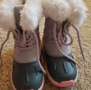 Carters snow boots girls toddlers 7